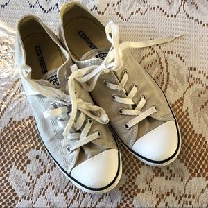Beige Converse Ladies Lace Up Lowtops
